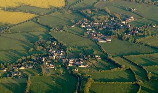 South Wraxall shot from the air
