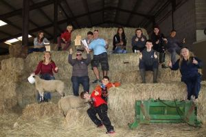 Youth workers supporting the Countryside Centre